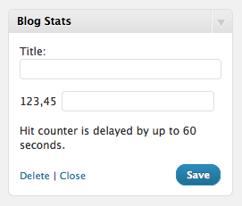 How to Show Blog Stats In WordPress Sidebar Widget