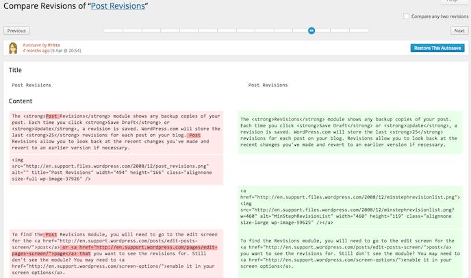 Compare Revisions