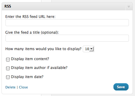 Modifikasi Feed RSS Widget Wordpress, Open Link in New Windows