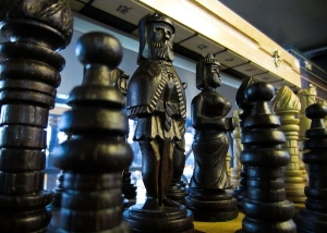 Chess set at Vásárcsarnok Market