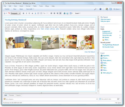 Windows Live Writer 2009 14.0.8089.726 full
