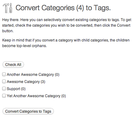 Category to Tag