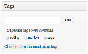 Deleting a tag
