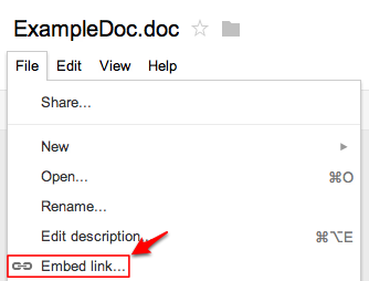 Google docs support for Embed a forum into your website