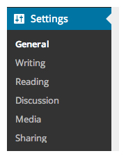 Settings-Menu