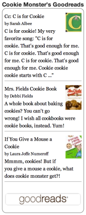 Goodreads - Cookie Monster