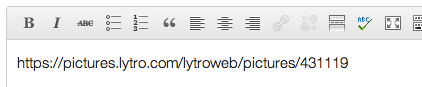 Lytro Shortcode Embed in Editor
