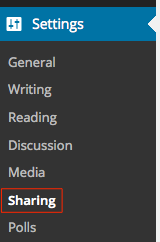 Settings > Sharing