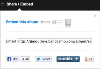 Bandcamp Share/Embed Link