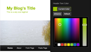 Customizing your header's text color