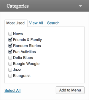 The category menu module