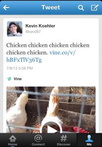 Vine tweet