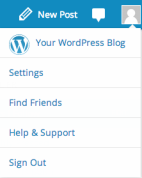 WordPress.com > Avatar > Settings > Account