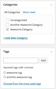 Category and Tag modules