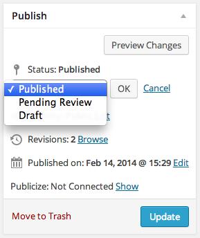 Publish Module Status