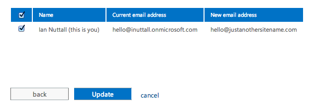 Update Existing Email Addresses