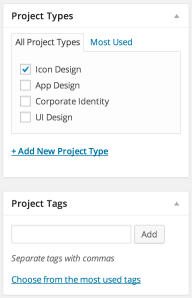 project-types-and-tags