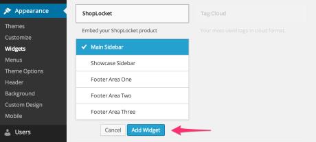 ShopLocket - Add Widget