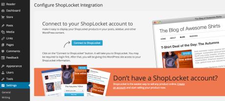 Shoplocket - Connect to Shoplocket