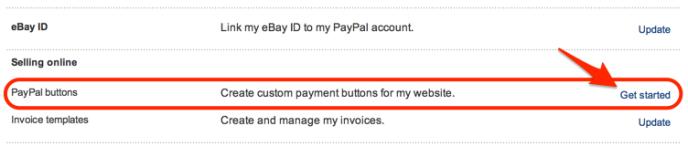 item botões PayPal