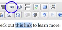 Selecciona el texto, y luego click en el ícono