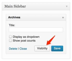 Le bouton Visibilité se trouve à côté du bouton enregistrer.