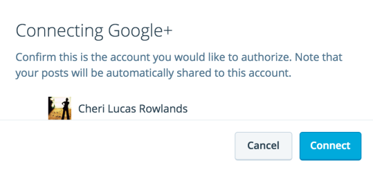 Google+ 連携の確認
