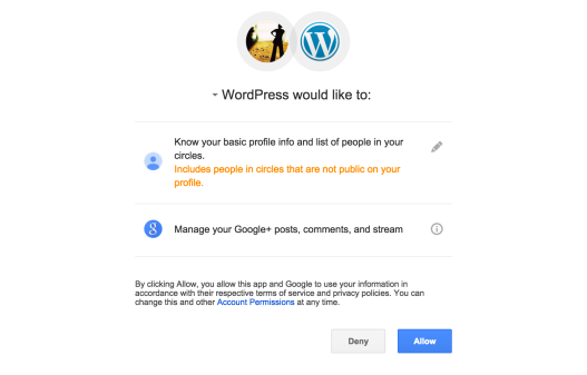 Google に対する情報