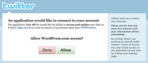 Publicize - Twitter Authorization