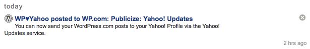Yahoo! Update
