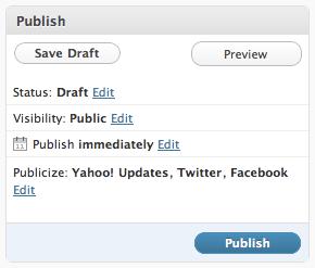 Publicize - Publish Box