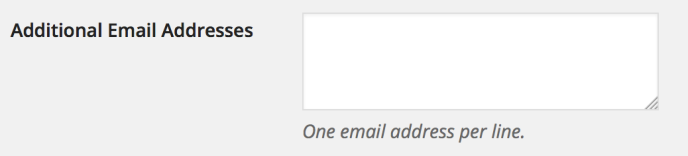 Email Post Changes - Additional Email Addresses