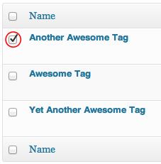 tag checks