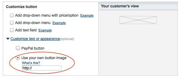 Opcional: Use seu próprio botão de imagem