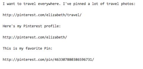Pinterest links