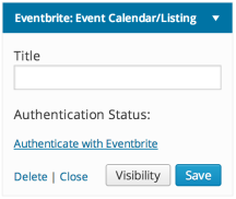 Eventbrite Calendar Widget