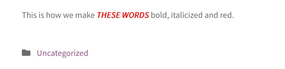 Bloc HTML (résultat)
