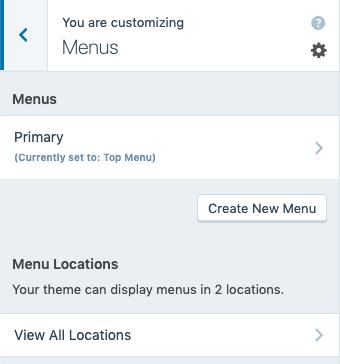 Custom Menus - Menu Locations